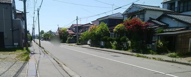 おにぎり村のすぐそばの住宅街
