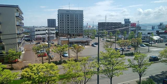 コンフォートホテル燕三条の部屋から見える景色