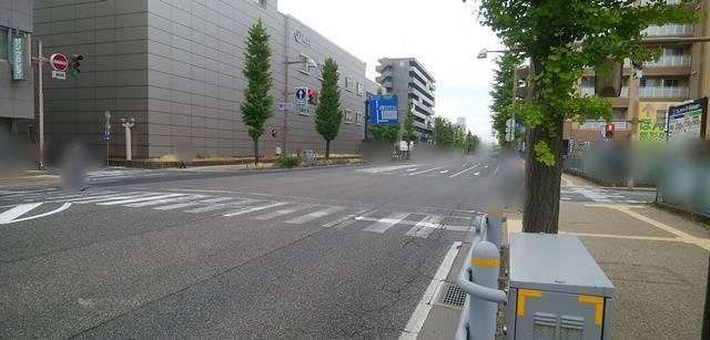 フレンドパーク新潟駅前第7の前から49号線方面を望んだ風景