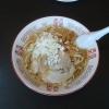 太安亭の中華そば720円の真上からの写真