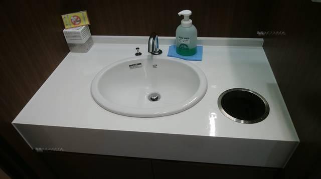 まねきねこ新大前店のトイレの手洗い場