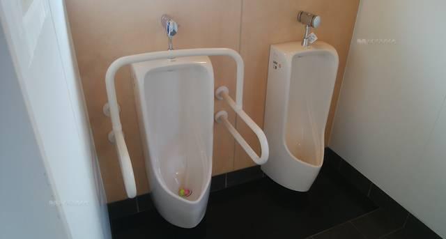 沼垂テラス商店街のトイレの男性小用便器