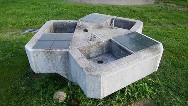 阿賀野川床固め公園の洗い場