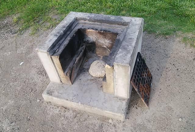 阿賀野川床固め公園のかま場のアップ