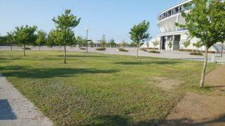 スポーツ公園のバーベキュー場