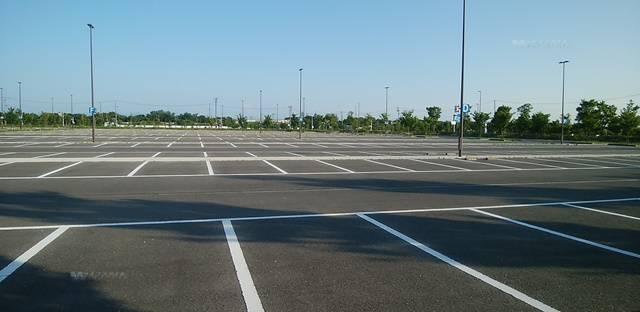 スポーツ公園の第3駐車場の全体像