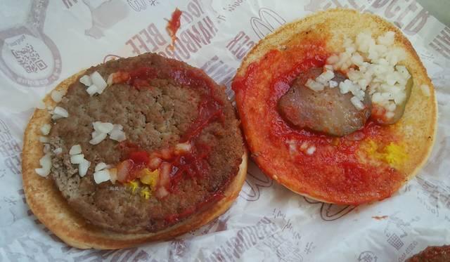 マクドナルドでオニオン・ピクルス増量した方のハンバーガー