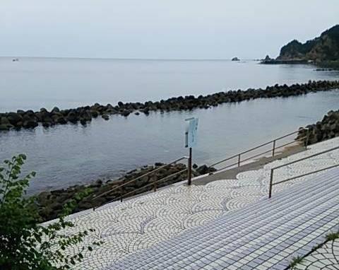 道の駅笹川流れの向かいの整備された海岸