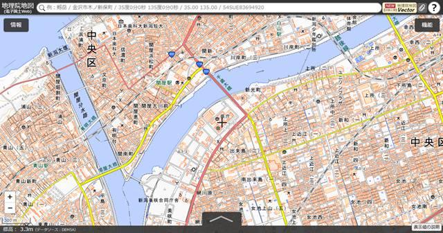 国土地理院地図その1