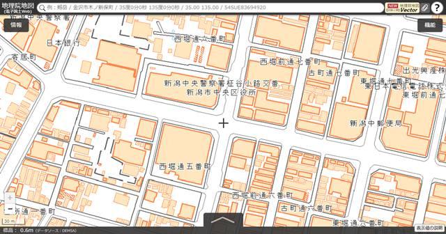 国土地理院地図でのNEXT21の標高