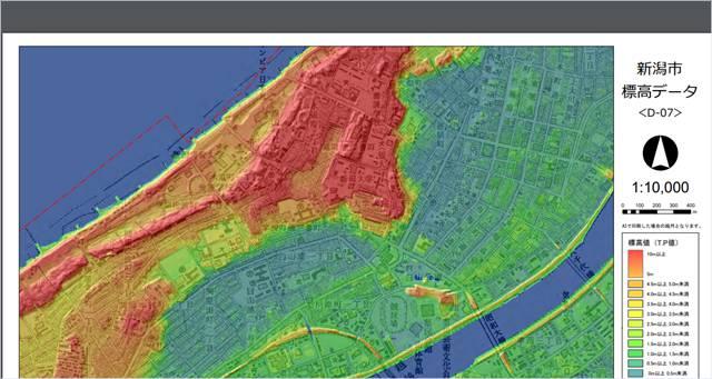 新潟市中央区の地盤高図のD-07