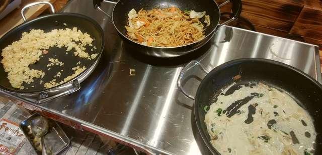 キラキラレストランのパスタやご飯ものなどの炭水化物類たち