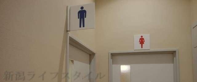 キラキラレストランの男子トイレ、女子トイレの看板