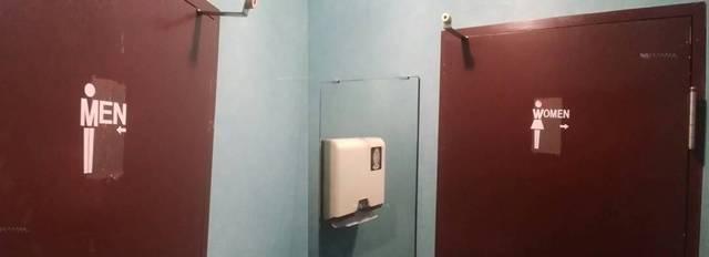 麺者風店小針店のトイレの男女別の入り口