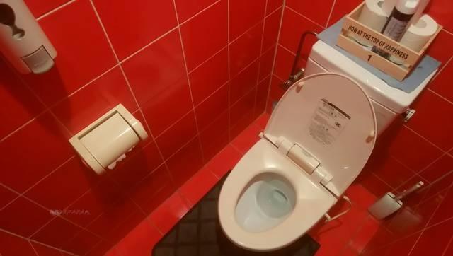 麺者風店小針店の男子トイレの様子