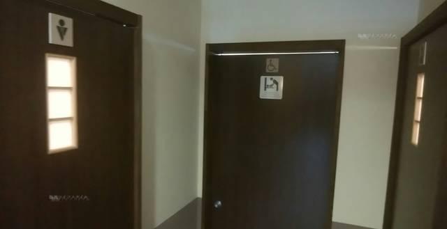 かつ一内野店のトイレの入り口