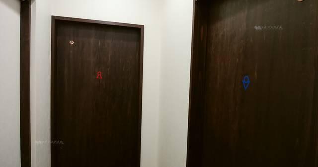 大福家のトイレの入り口。男女別に用意されている