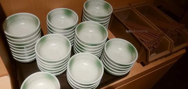 しゃぶ葉海老ケ瀬店の取り皿とお箸