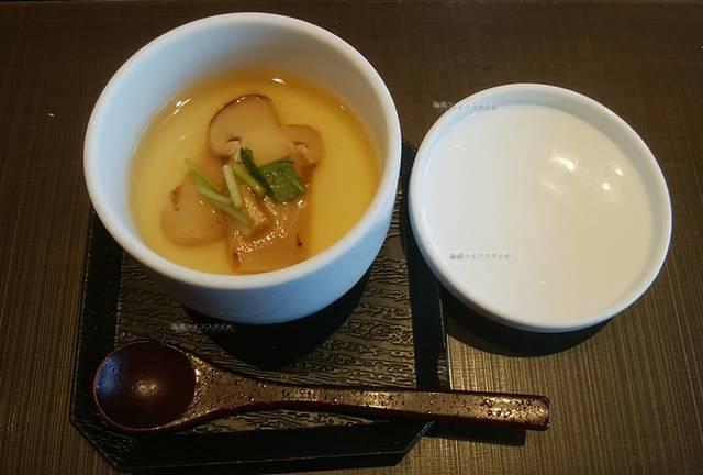 ゆず庵の期間限定の松茸茶碗蒸し