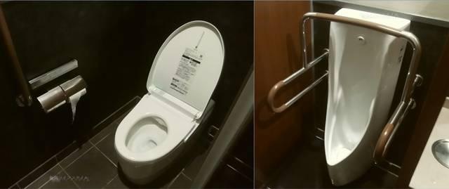 ゆず庵弁天橋店の男性トイレの大用と小用