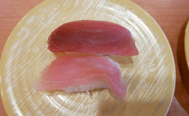 かっぱ寿司逢谷内店のまぐろ二種盛り