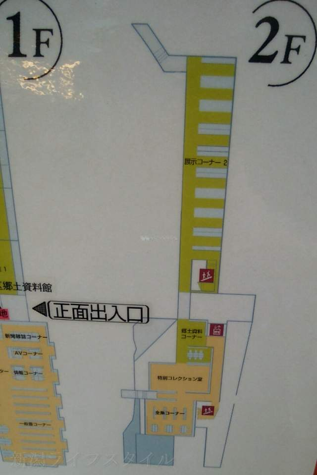 亀田図書館の建物マップその2