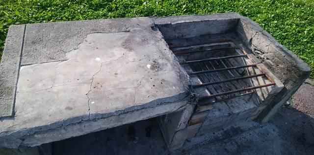 阿賀野川河川公園のかま場のアップ。少々老朽化が見える
