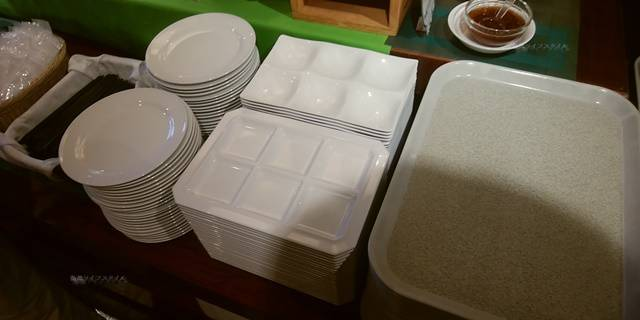ジュラクステイ新潟のお皿の数々