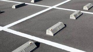 新しい地上駐車場のアップ